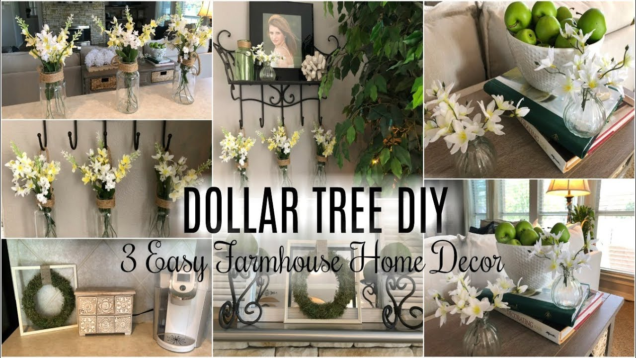 DOLLAR TREE DIY | 3 EASY FARMHOUSE DECOR DIY IDEAS