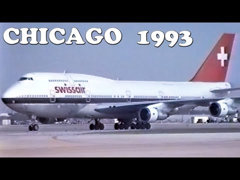 CHICAGO Airports 25 YEARS AGO (1993)
