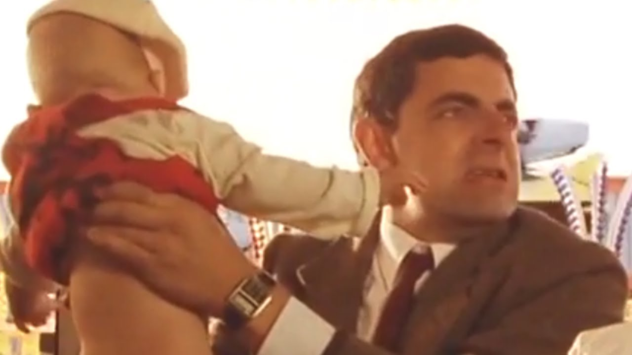 Nappy Trouble   Funny Clips   Mr Bean Official