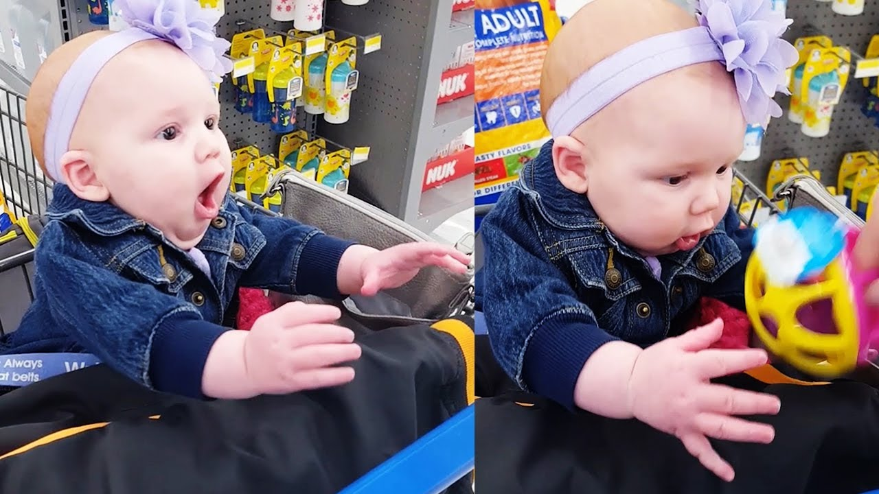 Funny Baby Go Shopping First Time - Cute Baby Video